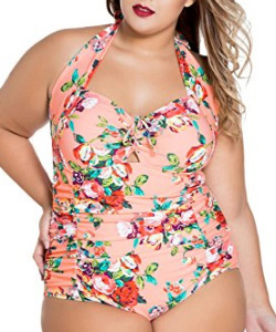 Chase Secret Womens Retro Vintage One Piece Swimwear